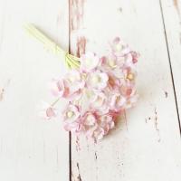 Цветы вишни Бело-розовые (мини), 10шт.