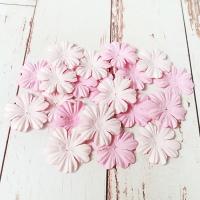 Цветы из шелковичной бумаги, Нежно-розовые, 20шт.