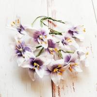 Лилии на стебле Фиолетово-белые, 10шт.