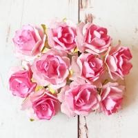 Кудрявые розы, Розовые, 10шт.