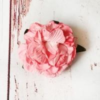 Кудрявая роза из бумаги Розовая, 1шт.