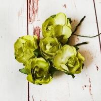 Роза из бумаги Зелёная, 1шт.
