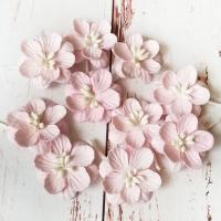 Цветки вишни, Нежно-розовые, 10шт.