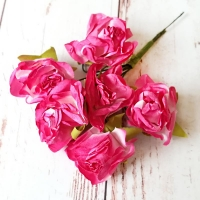 Бумажные цветы, 6шт.