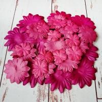 Бумажные цветы, Бордовые оттенки, 30шт.