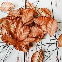 Листья, Коричневые (1,5х2,5см) 10шт.
