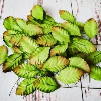 Листья, Зелёные (1,5х3см) 10шт.